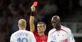 red card zidane